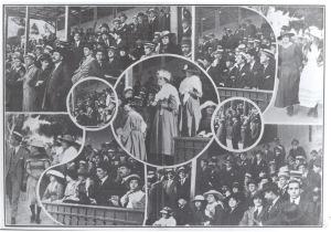 Aquibancada do Estádio do Fluminense em 1907 - Acervo Próprio
