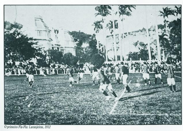 O primeiro Fla-Flu da história. 3x2 Fluzão, nas Laranjeiras em 1912. O clássico está comemorando 100 Anos.