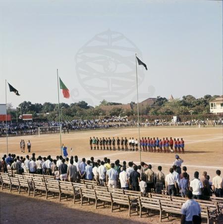 Estádio Sarmento Rodrigues, posteriormente rebatizado para Estádio Lino Correa.