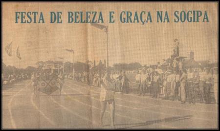 Abertura dos Jogos Abertos Femininos de 1957 Fonte: Jornal Folha da Tarde