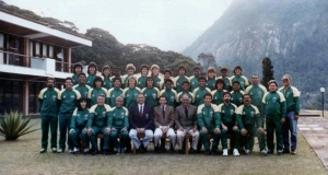 Seleção convocada para a Copa do Mundo da China (1991). Foto: Acervo pessoal da jogadora Michel Jackson