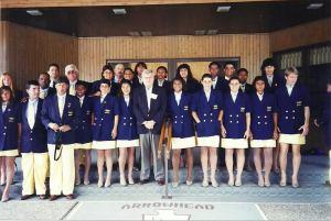 Seleção que participou dos Jogos Olímpicos de Atlanta  (1996). Foto: Acervo pessoal da jogadora Michel Jackson (camisa 9)