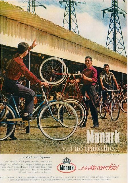 Anúncio das bicicletas Monark. Revista Seleções, agosto de 1961.
