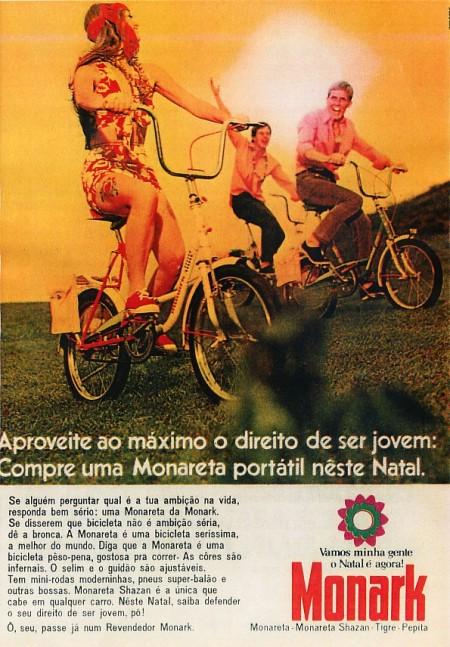Anúncio da Monark na Revista Quatro Rodas, julho de 1976.