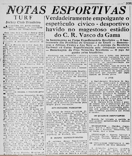 Jornal do Brasil, Rio de Janeiro, 16 mai. 1944, p. 9.