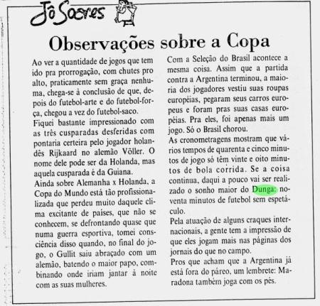 Jo Soares. Jornal do Brasil, 30 Jun 1990, p 11.