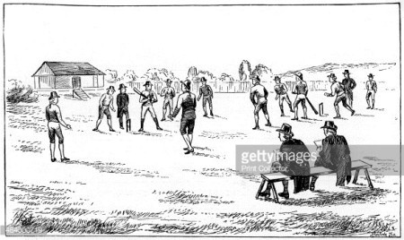 Lord's cricket ground, London, 1793 (1912). From Imperial Cricket, edited by P F Warner and published by The London and Counties Press Association Ltd (London, 1912). Acervo Getty Images