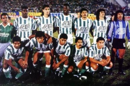 Equipe do Nacional campeã da Libertadores em 1989. Foto: Reprodução.