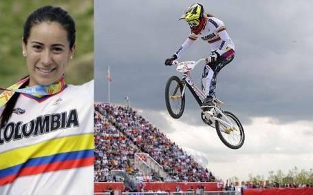 """Mariana Pajón es llamada la """"reina de las pistas"""" del bicicrós. Medalla de oro del BMX en Londres 2012"""