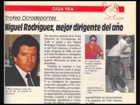 Miguel Rodríguez Orejuela chegou a ser considerado um dos melhores dirigentes de futebol no América de Cali. Fonte: http://www.wikiwand.com/es/Miguel_Rodr%C3%ADguez_Orejuela