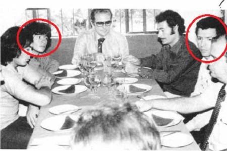Miguel Rodríguez Orejuela, à direita, tentou sem sucesso contratar o argentino Diego Armando Maradona, à esquerda, para atuar no América de Cali. Fonte: http://www.las2orillas.co/maradona-en-el-america-de-cali-el-milagro-que-casi-logran-los-rodriguez-orejuela/