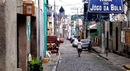 Atual Rua do Jogo da Bola Morro da Conceição Rio de Janeiro
