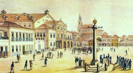 Atual Praça Tiradentes Debret