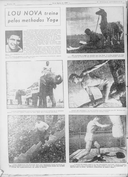 Lou Nova... O Globo Sportivo, 10 jun. 1939, n. 42, p. 18