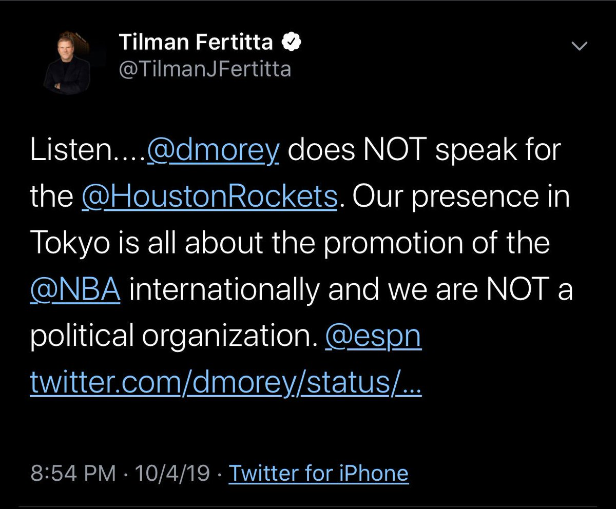 Tweet de Tilman Fertitta