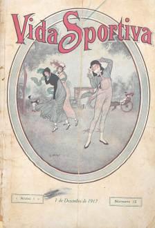 Capas com representações femininas nas edições da revista Vida Sportiva de 1917 e 1918.